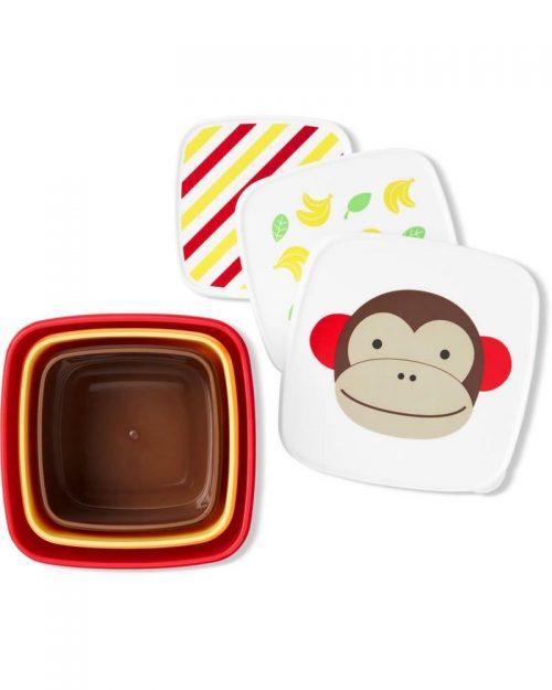 Pudełko śniadaniowe Lunchbox skip hop małpa