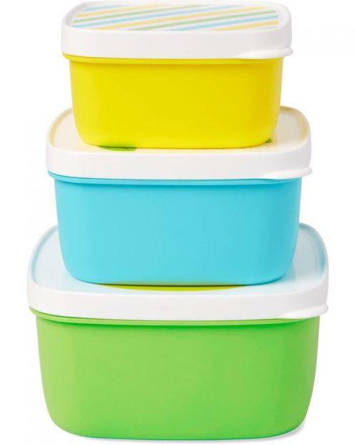 Pudełka śniadaniowe 3 szt Lunchbox skip hop żyrafal