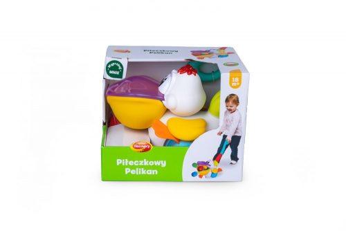 Pchacz piłęczkowy zabawka Dumel Pelikan DD44008 18m+