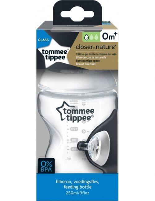 Tommee Tippee butelka do karmienia szklana 250 ml