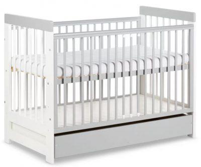 łóżeczko dziecięce 120x60 z szufladą łóżko popiel szary