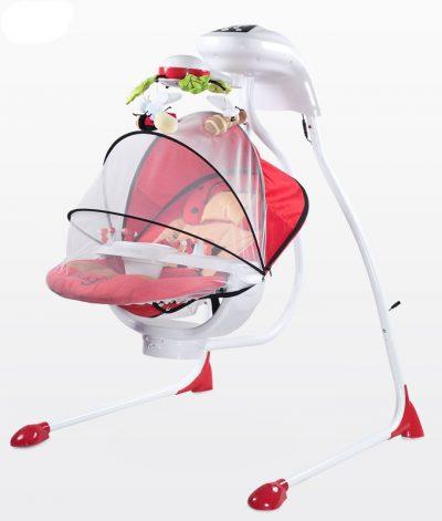 huśtawka dla dziecka z moskitierą i projektorem