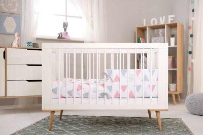 Sofie klupś białe łóżeczko 120x60
