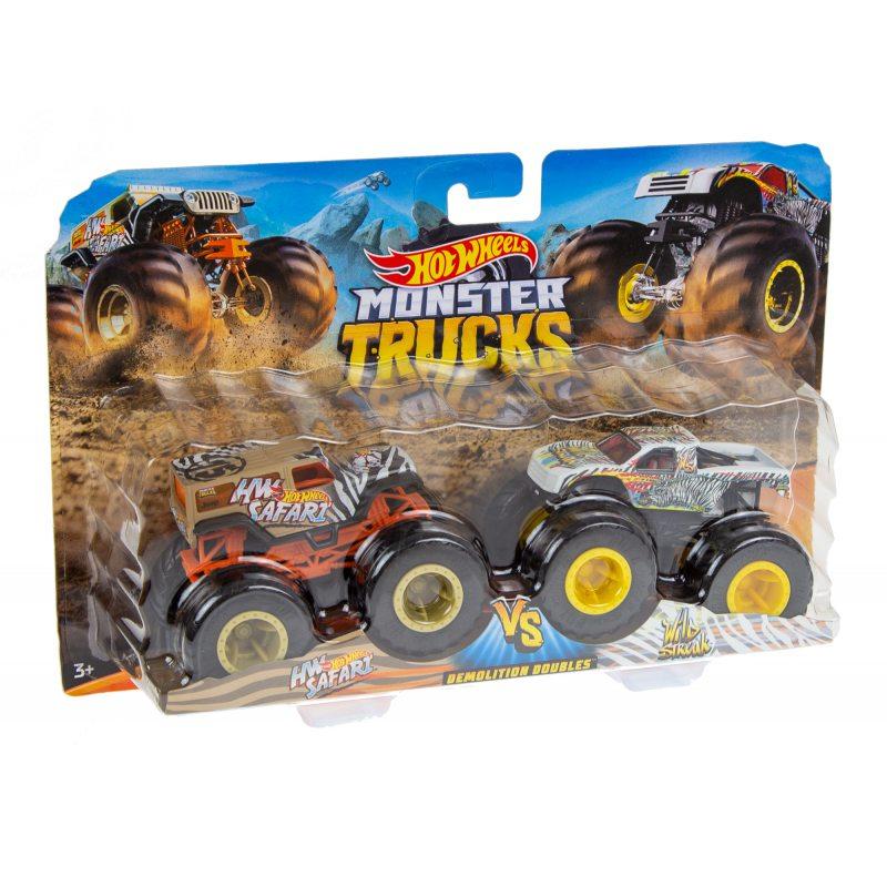 Hot Wheels Monster Truck 2 pak FYJ64 Safar Vs Wild Strea