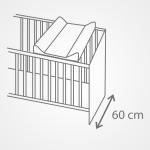 Przewijak na łóżeczko120x60 usztywniana nadstawka Ceba Baby Rowanberry
