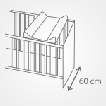 Przewijak na łóżeczko120x60 usztywniana nadstawka Ceba Baby Raccon