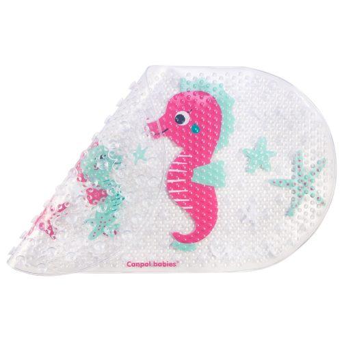 Mata kąpielowa Konik morski różowy Canpol Babies 69x38 cm