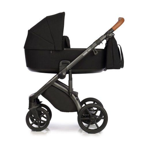 Roan Bass Next wózek glęboko spacerowy zestaw 3w1 z fotelikiem Kite 0-13 kg kolor Black + Gratis!