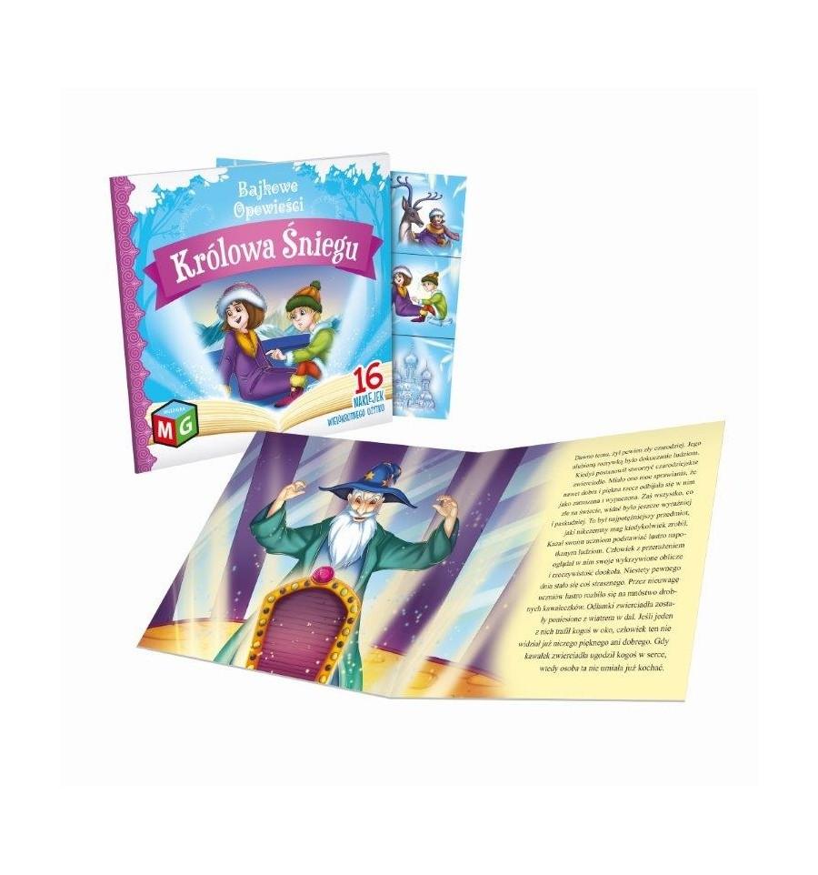 Królowa Śniegu bajkowe opowieści naklejki wielokrotnego użytku