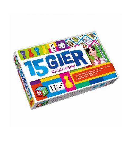 Multigra 15 gier dla dzieci i rodziców zestaw gier