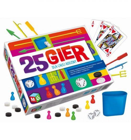 Duży zestaw gier dla dzieci i dorosłych 25 różnych gier