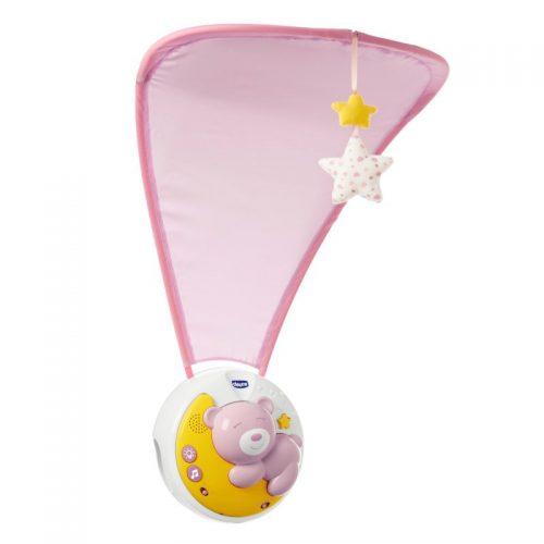 Chicco różowa Karuzela nad łóżeczko Next2Moon karuzelka do łóżeczka