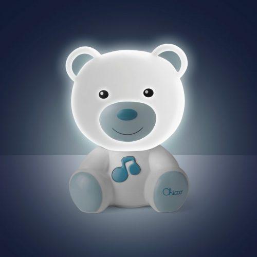 Nocna lampka led dla dziecka Miś niebieski Chicco