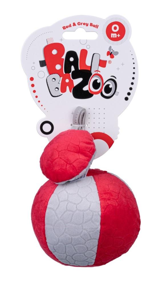 Dumel Balibazoo piłka sensoryczna czerwono szara 0+ DD80304