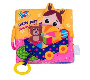 Jolly Baby książeczka materiałowa dla niemowląt gdzie jest dziewczynka? 0+ JB80461
