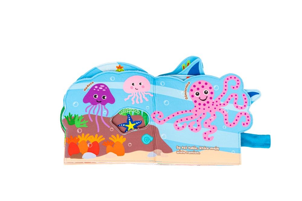 Jolly Baby książeczka materiałowa dla niemowląt podwodny świat 0+ JB80464