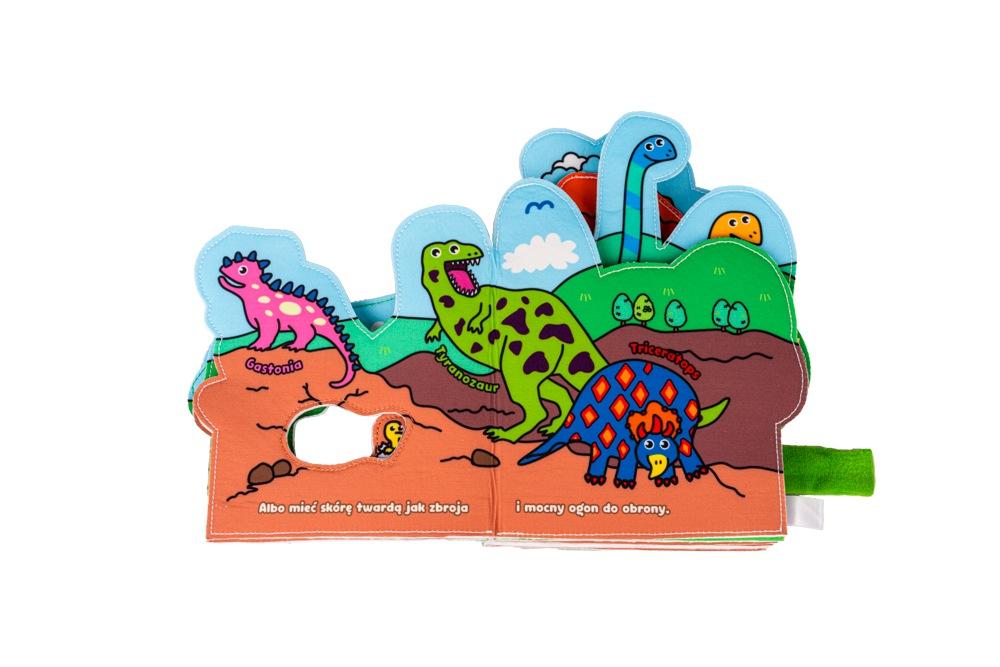 Jolly baby książeczka dla niemowląt materiałowa świat dinozaurów 0+ JB80465