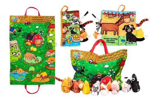 Jolly baby książeczka wiejskie zwierzęta + mata  0+ JB80466