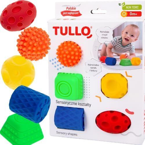 Zestaw do rehabilitacji Tullo sensoryczne kształty 5 szt 0+
