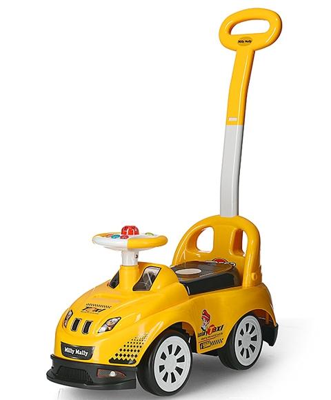 Milly Mally jeździk grający z pchaczem Bravo taxi 18m+