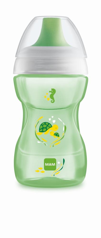 Kubek niekapek Fun To Drink Cup 270ml Mam Baby zielony żółw 8m+