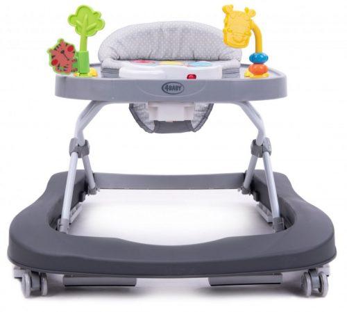 Chodzik dla dzieci do12 kg walkn push ciemny szary 4Baby