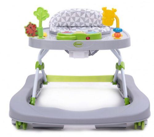 4 Baby chodzik dla dzieci do12kg walkn push szary