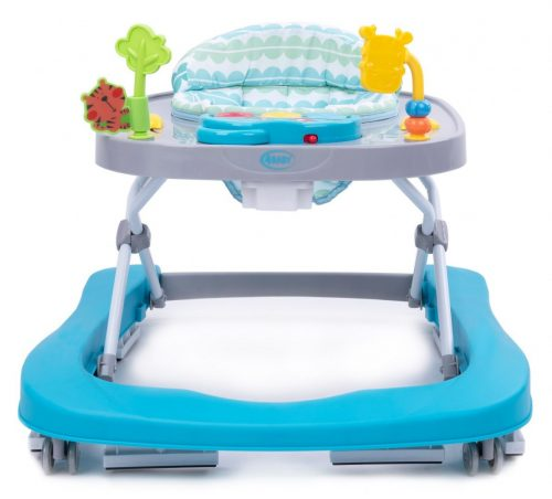 4 Baby chodzik dla dzieci do12kg walkn push turkus