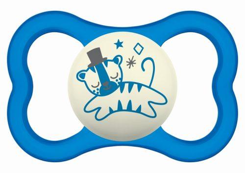 Świecący smoczek uspokajający Mam Air Night 16m+ niebieski kot