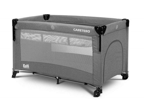 Łóżeczko turystyczne z funkcją dostawki Esti graphite Caretero