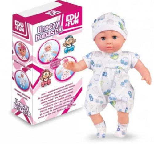 Macysyzn lalka bobas z dźwiękiem śpiewa i mówi po polsku 38 cm