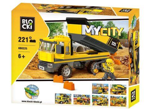 Blocki klocki My City Wywrotka 221 el KB0225 25.5 x 37.5 x 6 cm