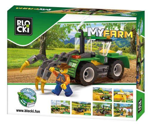 Blocki klocki My Farm Traktor z pługiem KB0317 15.6x 9.6x4 cm