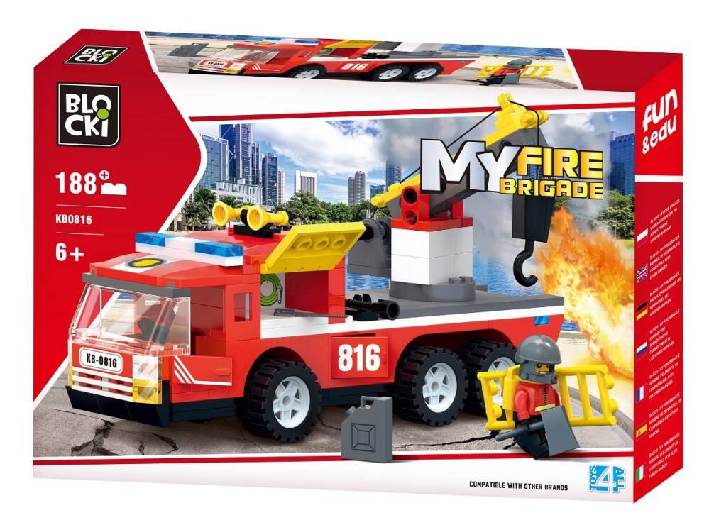Blocki klocki My Fire Wóz strażacki 188el KB0816 25.5x 37.5 x 6 cm