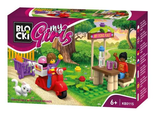 Blocki klocki My Girls Letni piknik KB0115 9.4x 14.5x 4 cm