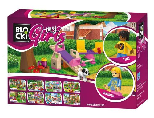 Blocki klocki My Girls Spacer po parku KB0114  9.4x 14.5 x 4 cm