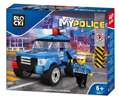 Blocki klocki My Police Radiowóz patrolowy KB0617 15.6x 19.6x 4 cm