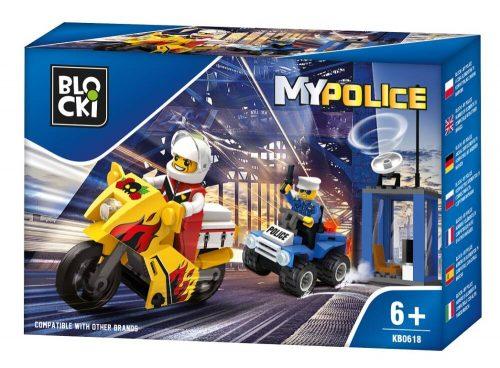 Blocki klocki My Fire Radiowóz patrolowy KB0618 9.4x 14.5x 4 cm