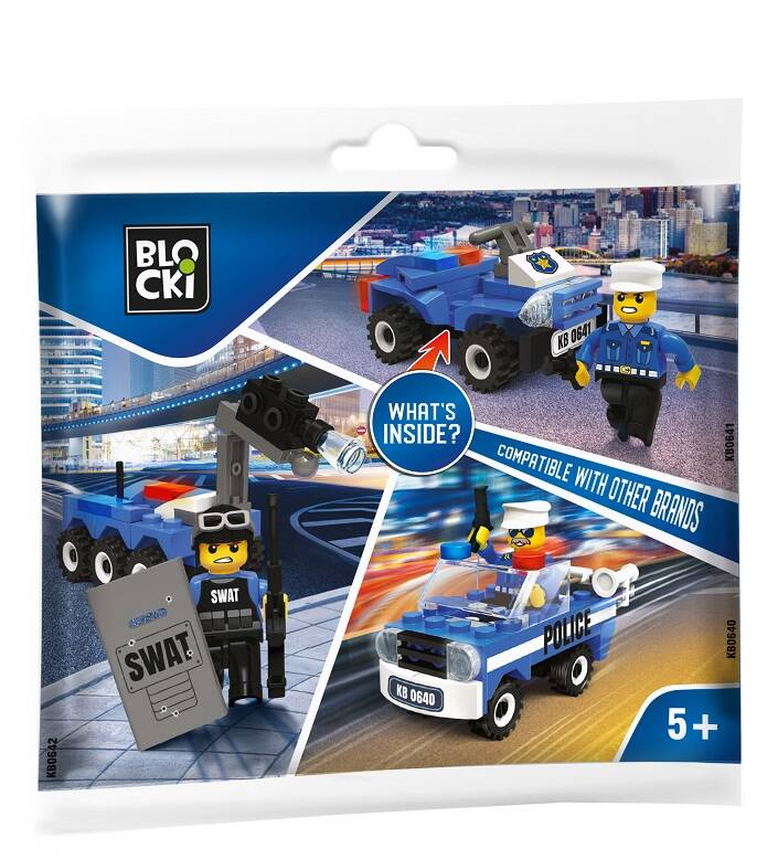Blocki klocki My Police saszetka KB0642 14.5 cm x 19 cm
