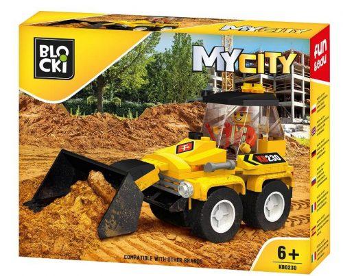 Blocki klocki My City Mini spychacz 15.6 cm x 19.6 cm x 4 cm
