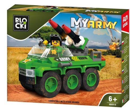 Blocki klocki My Army Wóz z rakietami KB0918 15.6x 19.6 x 4 c