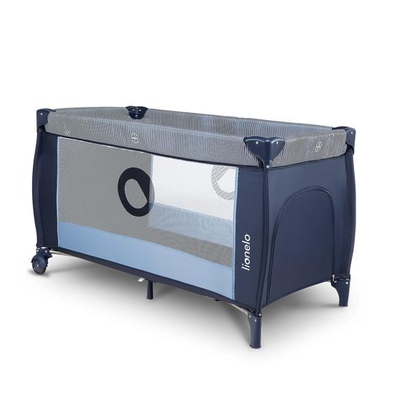 Sven plus Lionelo łóżeczko turystyczne dwupoziomowe blue navy niebieskie