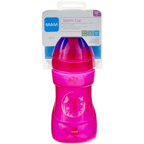 Bidon sportowy dla dziecka niekapek Sport Cyp 330ml różowa dziewczynka