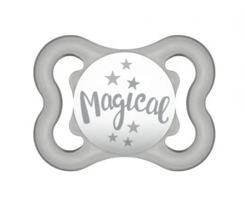 Smoczek silikonowy Mam Baby Air 2-6 m szary magical