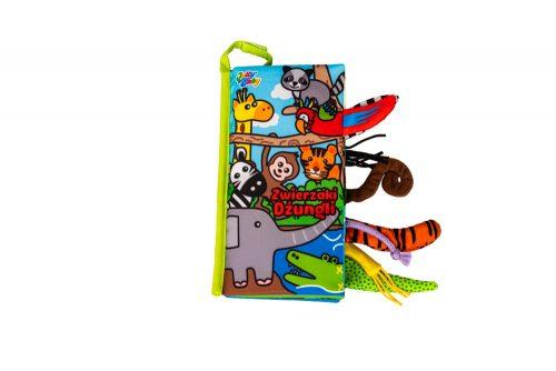 Jolly baby miekka książeczka sensoryczna dla niemowląt zwierzaki dżungli  ogonki 0+ JB80452