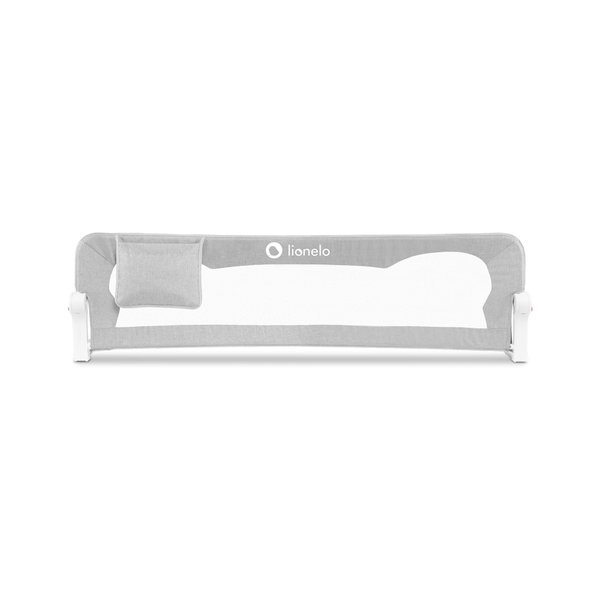 Barierka ochronna do łóżeczka zabezpieczająca  eva grey melange szara Lionelo