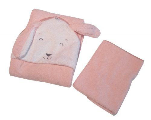 Grube okrycie kąpielowe 100z100 frotte z ręcznikiem gratis Fluffy róż
