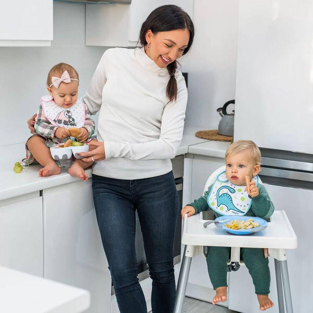Elastyczne giętkie łyżeczki dla niemowląt BabyOno mietowe