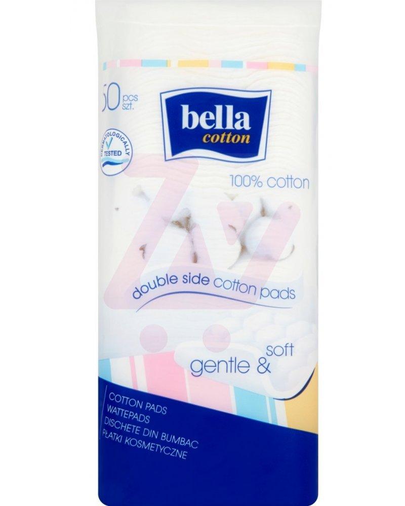 Bawełniane płatki kosmetyczne kwadratowe Bella Cotton 50szt.