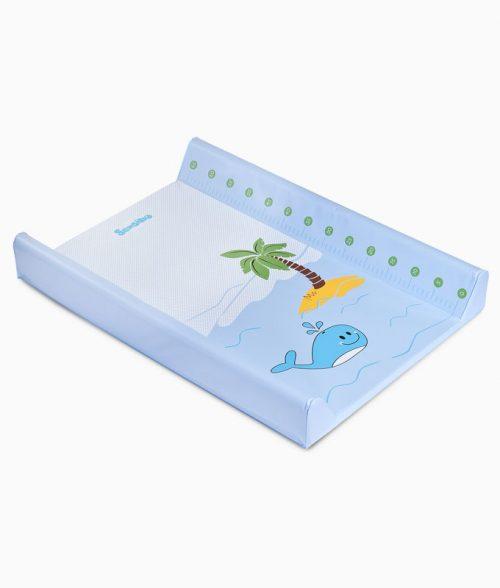 Nadstawka na łóżeczko 120x60 przewijak do łóżeczka Sensillo wieloryb niebieski